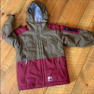 Woolrich boys warm winter coat Hooded Size 4